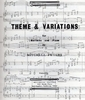 Peters, Mitchell: Theme and Variations for Marimba and Piano