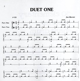 Maroni, Joe: 50 elementary duets for snare drum