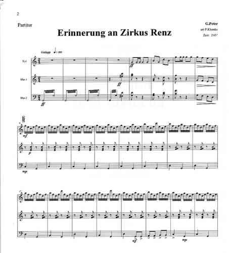 Peter, Gustav / Klemke, Peter: Erinnerung an Zirkus Renz for Mallet ...