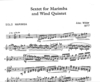 Wilder, Alec: Sextet for marimba and wind quintet
