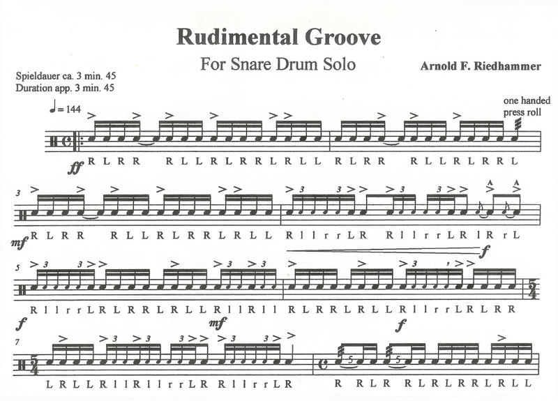 Riedhammer, Arnold F.: Rudimental Groove For Snare Drum ...
