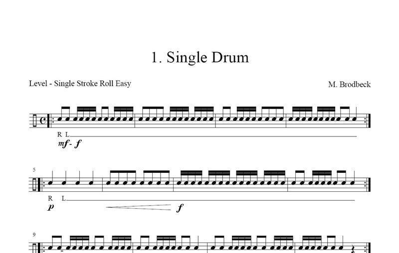 Brodbeck, Matthias: Snare Drum Solos Easy - Brandt ...