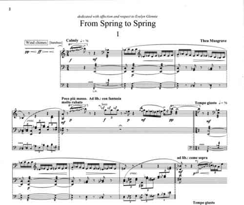 Musgrave, Thea: From Spring to Spring for Marimba Solo