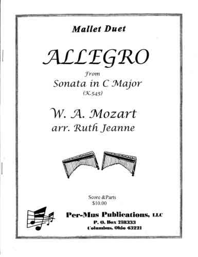 Mozart, W A : Allegro from Sonata in C-Major for Mallet Duet