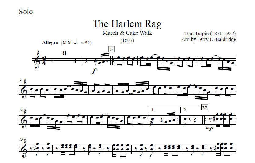 Baldridge, Terry: Ragtime Xylophone Vol  1 with marimba and