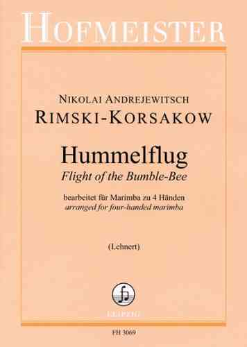 Rimski-Korsakow, Nikolai: Flight of the Bumble-Bee for four-handed marimba