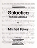 Peters, Mitchell: Galactica for Solo Marimba