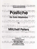 Peters, Mitchell: Pastiche for Solo Marimba